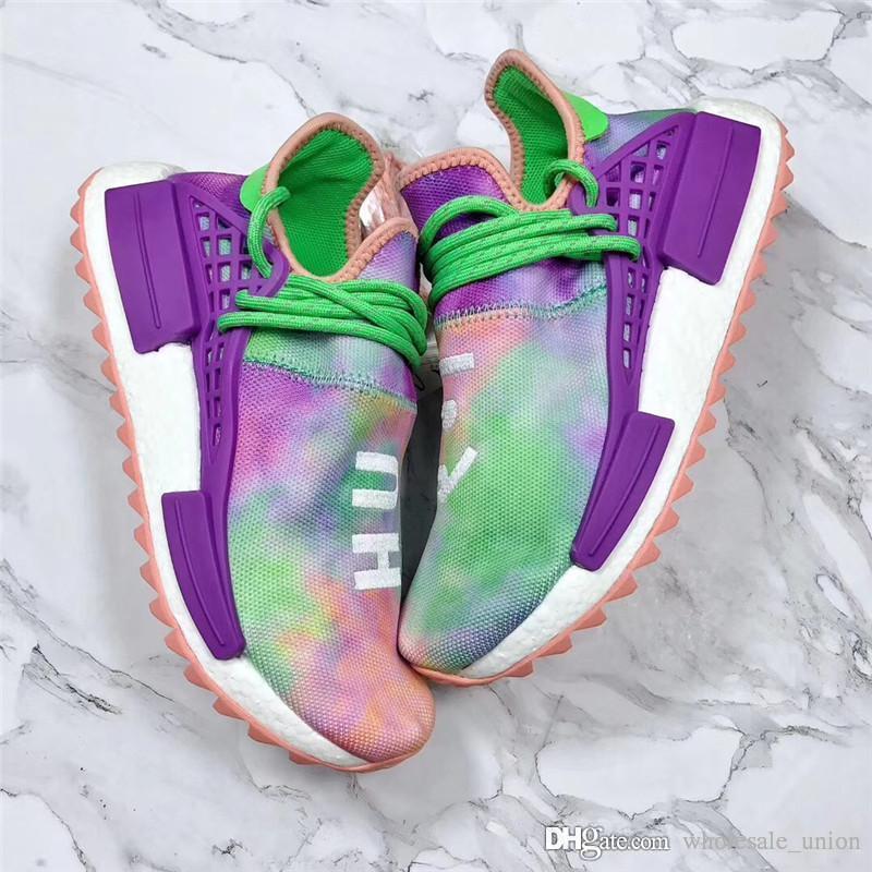 official photos 244d3 ffebe Pharrell X 2088adidas Nmd Hu Trail Holi Zapatillas Para Hombres Womne Chalk  Coral Flash Green Lab Purple Zapatillas Auténticas Con Caja Original Por ...