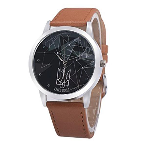 OKTIME Leather Band Analog Quartz Vogue Wrist Watch