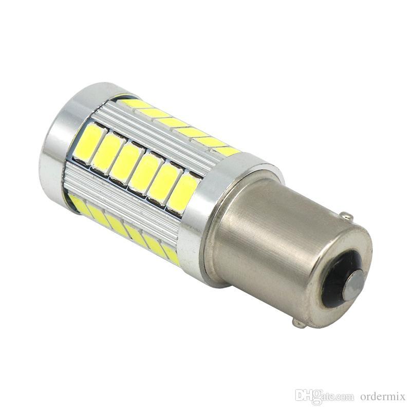1156 p21w 7056 ba15s 33 smd 5630 5730 led أضواء الفرامل السيارات الضباب لمبة السيارات عكس مصباح النهار تشغيل ضوء أحمر أبيض أصفر 12 فولت