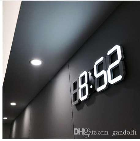 3d Led Wall Clock Modern Digital Table Desktop Alarm Nightlight Saat For Home Living Room Office 24 Or 12 Hour Extra Large Clocks