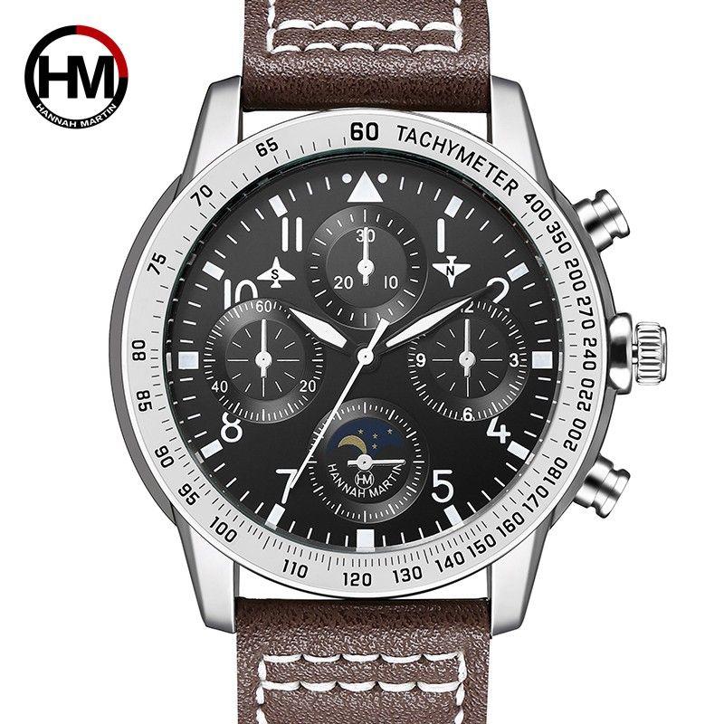 de9bd07051 2018 novo relógio de quartzo para homem Grande piloto relógios esportivos  decorativos pequeno mostrador de couro ocasional pulseira de relógio de  pulso 2256