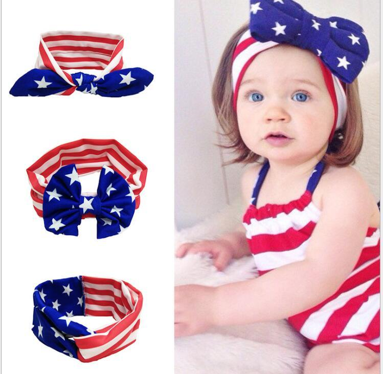 5582cb75bc7 KIDS Girls Hairband Headband Independence Day Bow Knot Rabbit Ears American  Flag Rabbit Ears Headwear Twist Turban For Kids KKA5073 Red Hair  Accessories Red ...