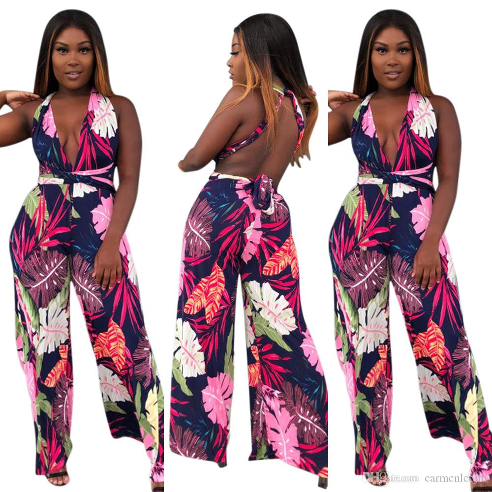 95c14aa05f3cc Sexy Rompers Womens Jumpsuit 2018 Printed Floral Night Out Clubwear ...