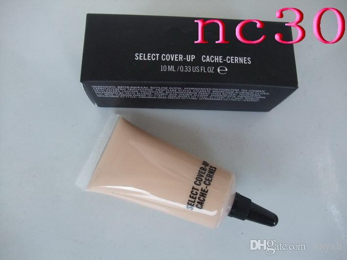 Hot makeup SELECT COVER-UP CACHE-CERNES M concealer liquid Foundation NC15-NW45 10ML/0.33OZ Liquid Concealer DHL