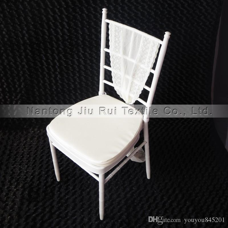 A Chiavari Chair Leather Cushion White/Gold/Ivory/Sliver For Wedding Chair Use