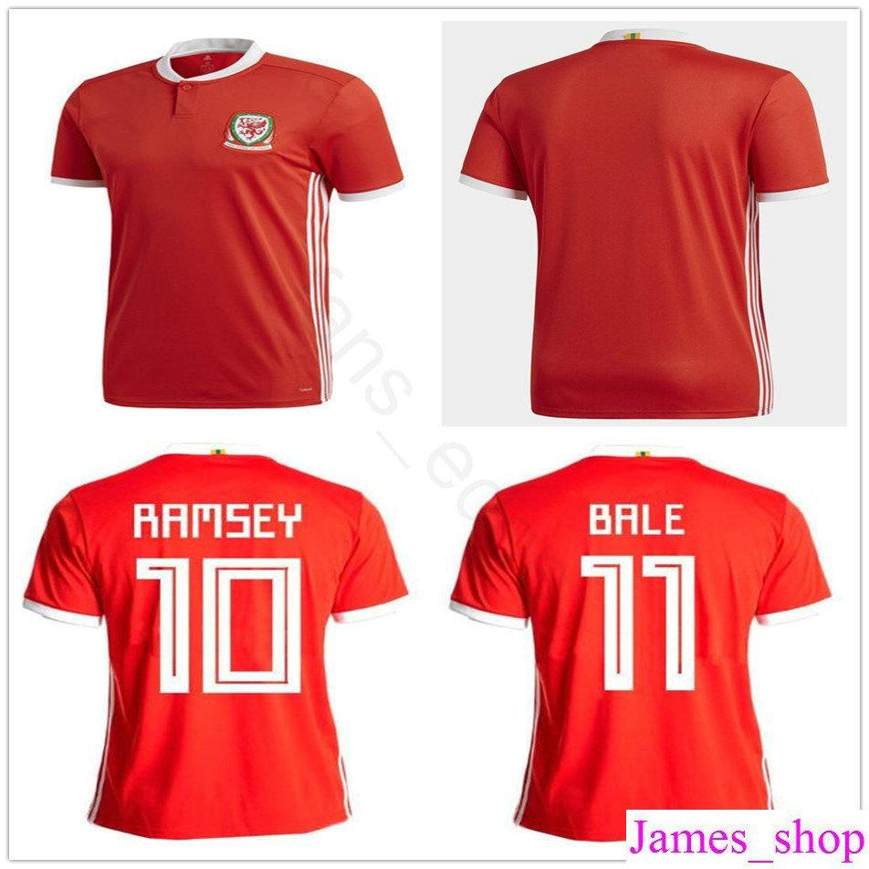 best sneakers ec588 d7b17 Wales Soccer Jersey 10 AARON RAMSEY 11 GARETH BALE ALLEN TAYLOR WARD 9  ROBSON-KANU 6 WILLIAMS Home Red Customize Football Shirts