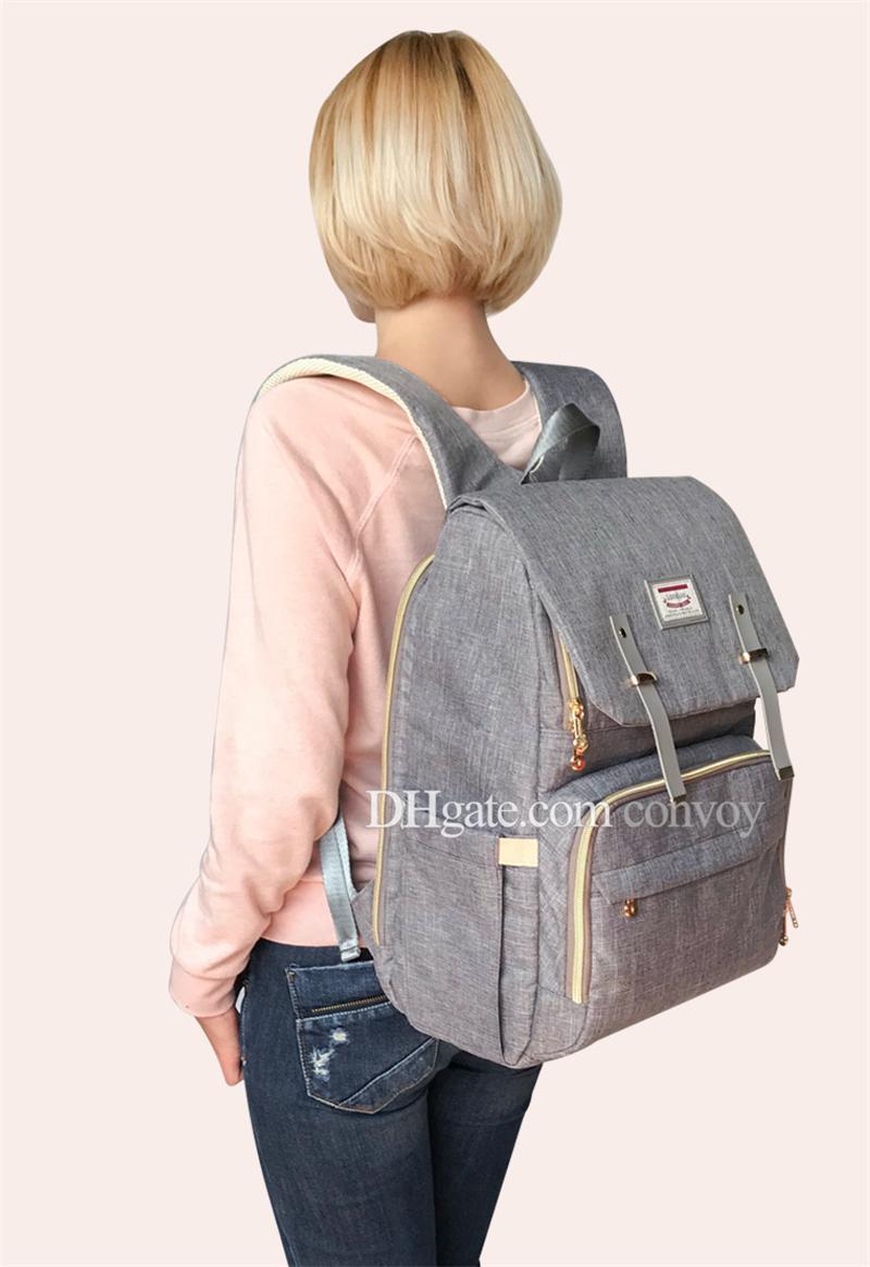 2018 أحدث landuo الأم حقيبة الظهر حفاضات حقائب أعلى جودة الطفل carring حفاضات ظهره الأمومة كبيرة الحجم حقيبة سفر في الهواء