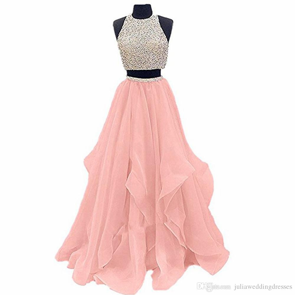 Elegant Pink Luxury Prom Dresses 2018 Crystals Organza Open Back Long  Evening Gowns Party Celebrity Gowns QC1101 Dresses For Special Occasions Formal  Dress ... 3438e4b80898