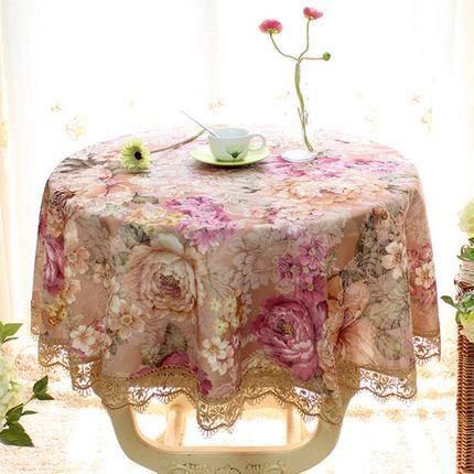 2018 New Arrival Elegant Round Table Cloth Rectangular Tablecloth