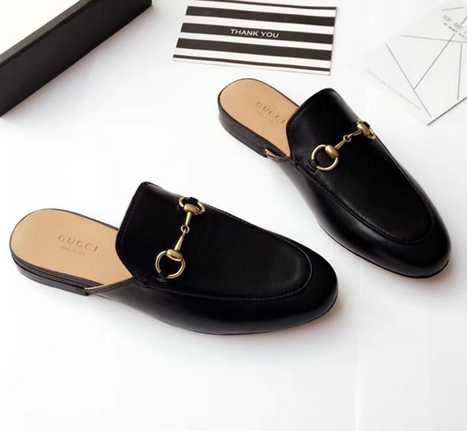 3c3544eb5a49 Princetown Leather Slipper Womens Shoe Women Moccasins Mules Luxury Brand  Fashion Comfortable Lafers Symbolic Gold-tone Horsebit Shoes Slippers  Online ...