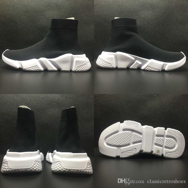 Nouveau Casual Femme Haute Qualité Boots Socks Chaussettes Chaussures Plat Marque Unisexe Fashion Tissu Élastique Bottes Slip On Balenciagnom rdoeCxB