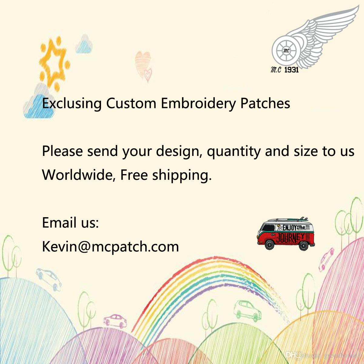 Exclusive Custom Embroidered Patches Design Any Size Any Pattern Custom Patch Free Shipping