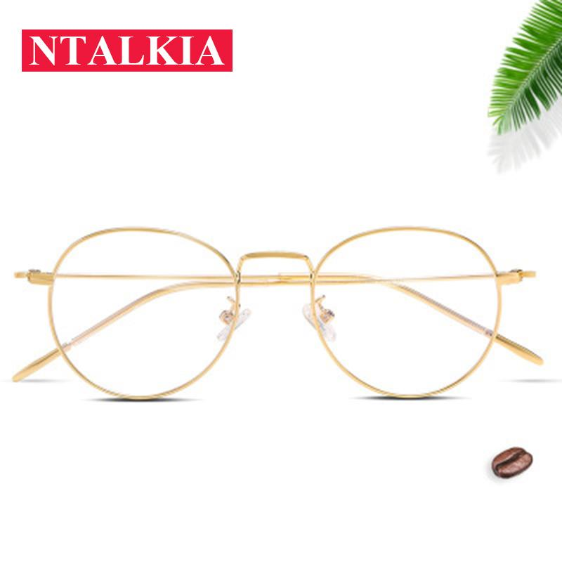 8a31ac6b66 Fashion Blue Light Glasses Retro Metal Frame Anti Blue Ray Computer ...