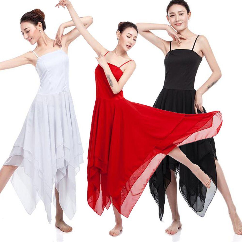 320287a5c142 Elegant Lyrical Modern Dance Costumes For Women Ballet Dress Adult Girls Contemporary  Dance Dresses Practice Clothing Outfits Ballroom Cheap Ballroom .
