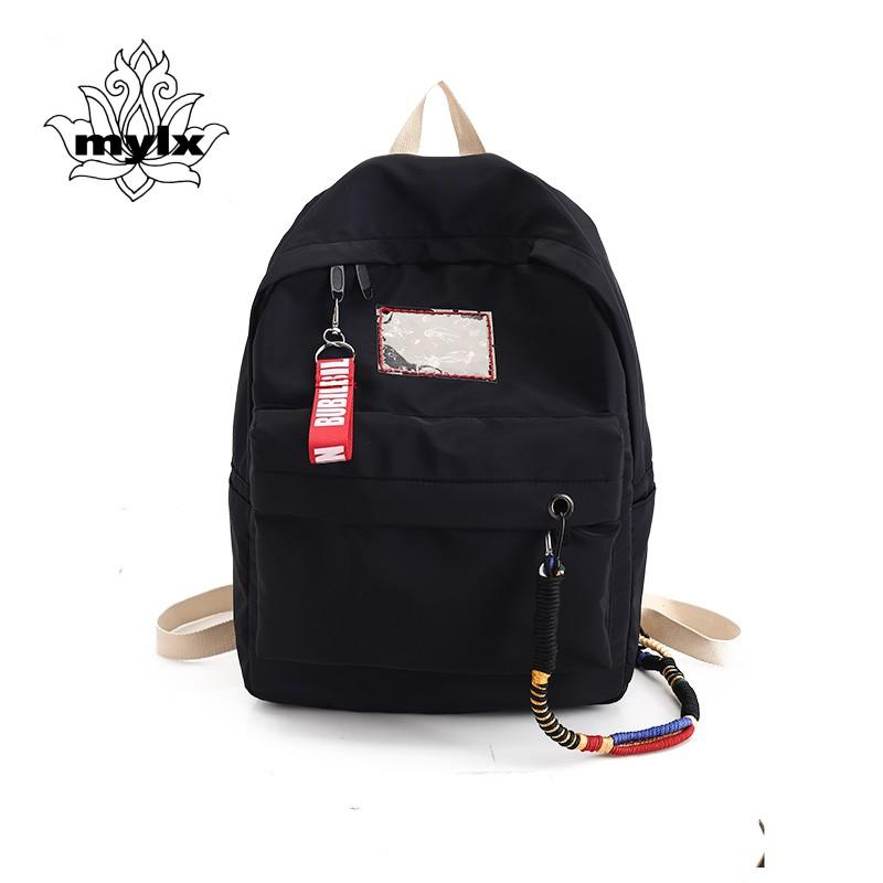 1e5af7c8974e Waterproof Nylon Backpack School Backpack For Teenage Girls Men Women  Lightweight Travel Bag Japan And Korean Style Leisure Bag Travel Backpacks  Small ...