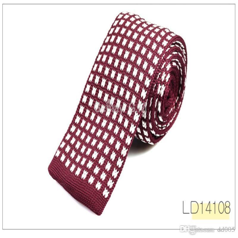 Fashion Men Knitted Narrow Necktie Forward Type Polyester Stripe