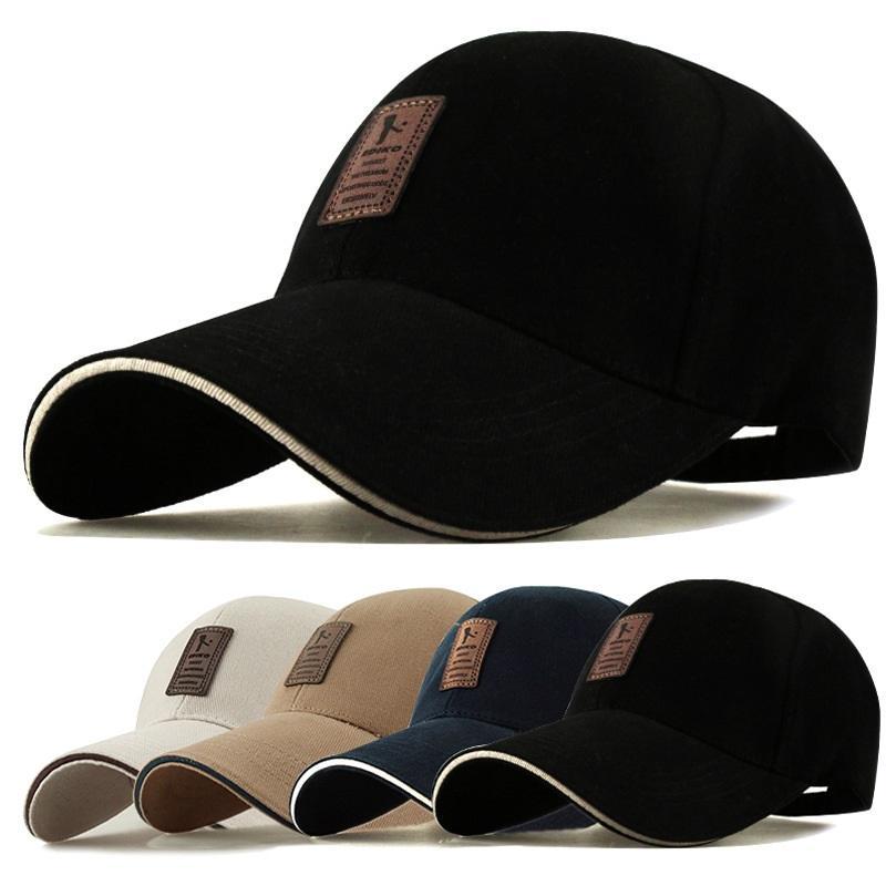f126f45b223c9 1Piece Baseball Cap Men s Adjustable Cap Casual leisure hats Solid Color  Fashion Snapback Summer Fall hat