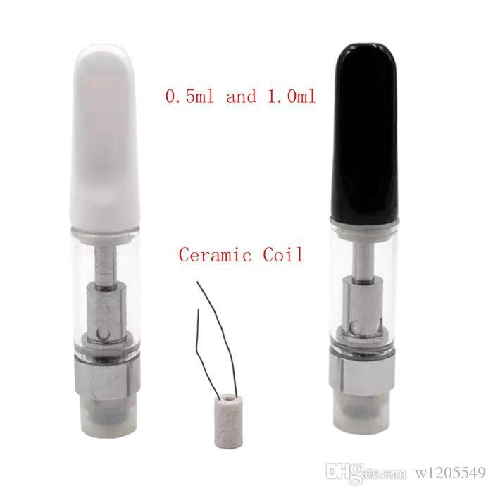 Ceramic th210 Cartuccia Pyrex Glass Vaporizzatore Ceramic Drip Tip 510 Threat Atomizer Wickless Serbatoio CE3 BUD Vape Batterie dhl