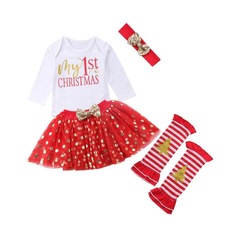 d5453cfbf Compre 0 24M Mi 1ra Ropa De Navidad Recién Nacido Niños Bebé Niña  Lentejuelas De Navidad + Vestido De Punto + Calentadores De La Pierna Linda  Princesa ...