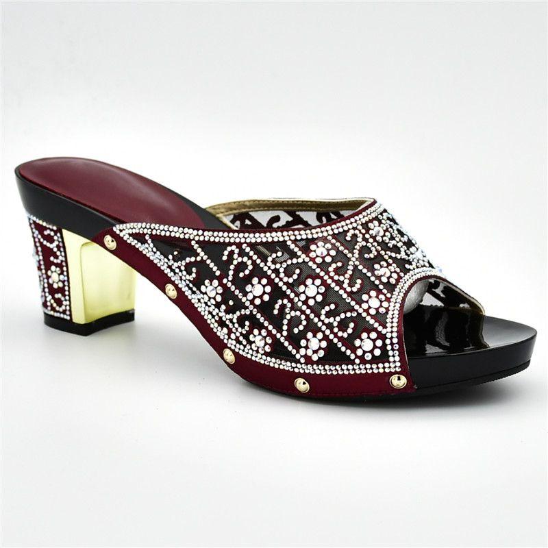 9086e6488d6d Latest Rhinestone Wedding Shoes Italian Women Party Pumps Bridal Shoes  Elegant Slip On Ladies Sandals With Heels Women Sandals Silver High Heels  Birkenstock ...