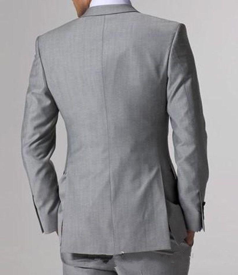 Новые высококачественные светло-серые боковые вентиляционные жениха Tuxedos Groomsmen Best Mens мужские свадебные костюмы невесты куртка + брюки + жилет + галстук