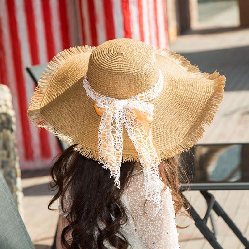 6ff13058 Beach Straw Hats For Girl 2018 Fashion Summer Beach Floppy Straw Hats For  Travelling Summer Knitting Wide Brim Hat Outdoor Sunscreen Hats Hat World  Ladies ...