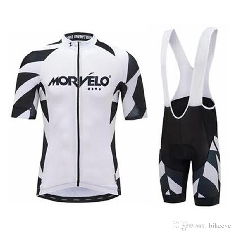 Morvelo team Cycling Short Sleeves jersey bib shorts sets 2018 summer new high qualityTop Brand Quality Mtb Sport Quick Dry men C1710