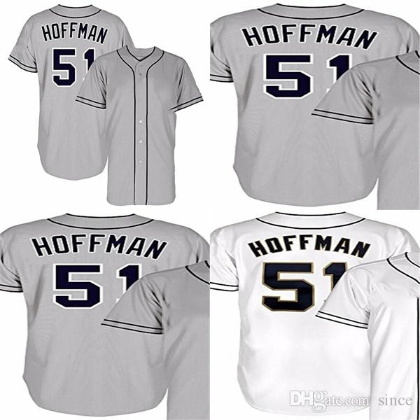 91624bad412 Wholesale San Diego 51 Trevor Hoffman Grey White Best Quality Cheap ...