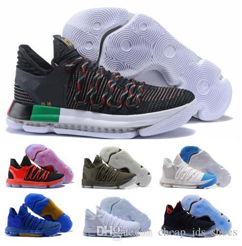 online store 7a804 dae5e Großhandel Kaufen Sie Kd 10 Basketball Schuhe Herren Sky Blue Kevin 10s X  Pure Platinum BHM Oreo Dreifache Lmtd City Series Funktionen Athletic Shoe  ...