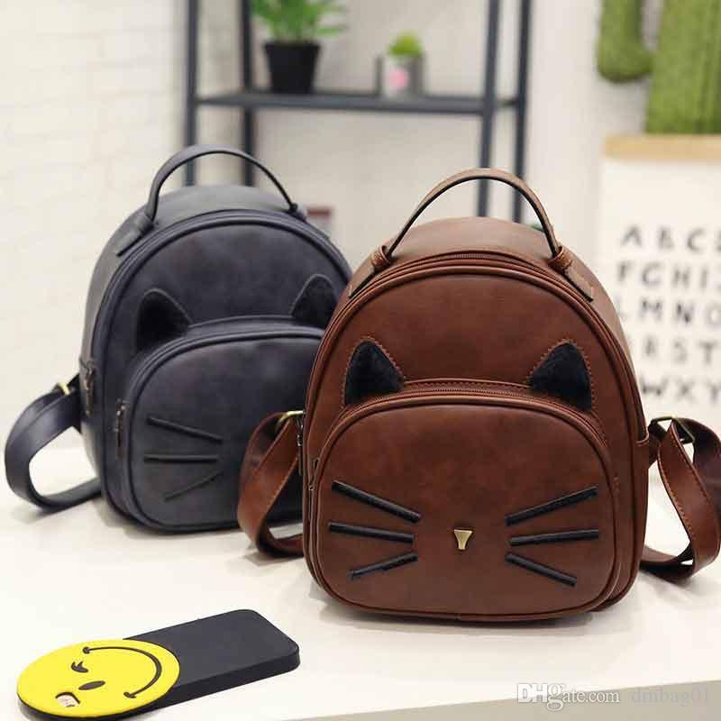 выбрать милый аниме кошка мода школьные сумки искусственная кожа рюкзаки дизайнер мини рюкзак сумка для путешествий и школы