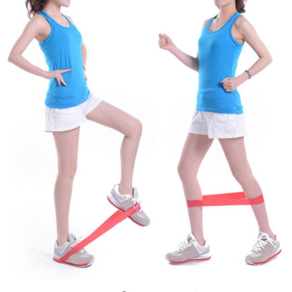 Elastic Fitness Yoga Loop Band Natural Latex Tension Resistance Pull