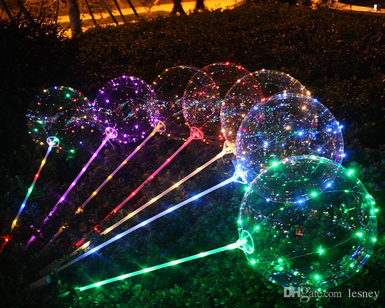 3 Meter Led Light Balloons With Stick 18 Inch Light Up