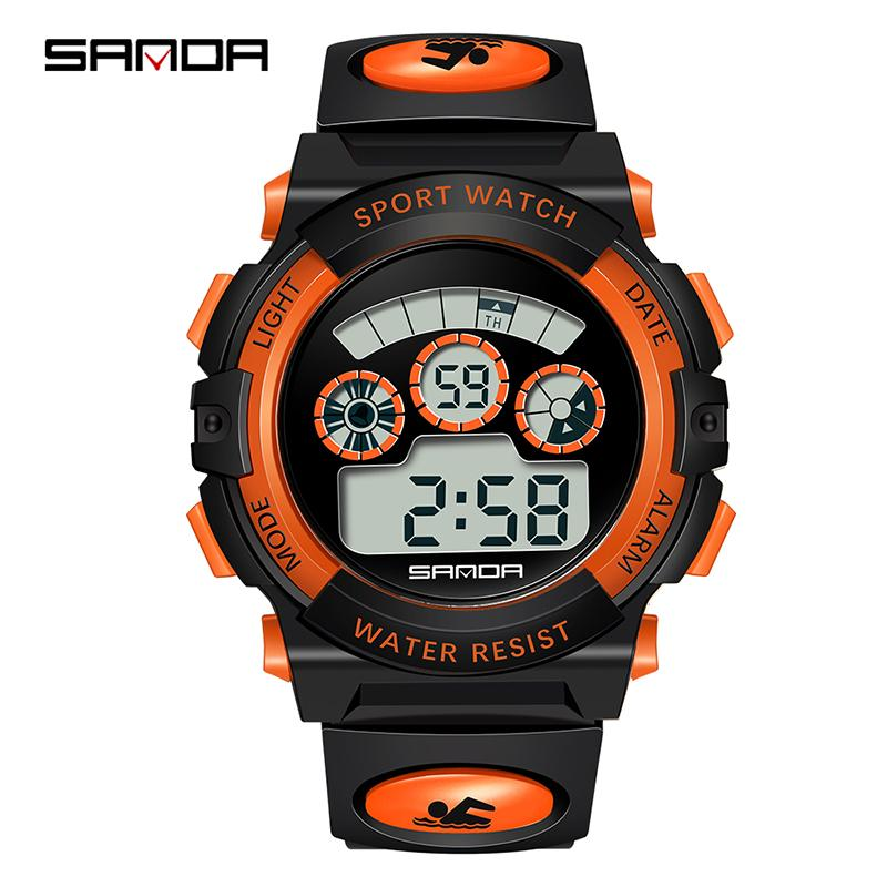 Children's Watches Capable New Fashion Sanda Brand Children Sports Watches Led Digital Quartz Military Watch Boy Girl Student Multifunctional Wristwatches