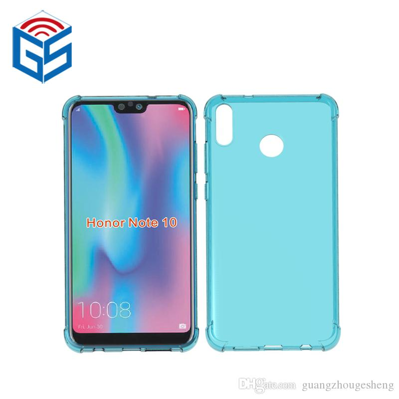 new products e8067 0e78d For Huawei Honor V10 View 10 Note 10 Crystal Clear Case Anti-knock Edge  Design Transparent TPU Back Cover