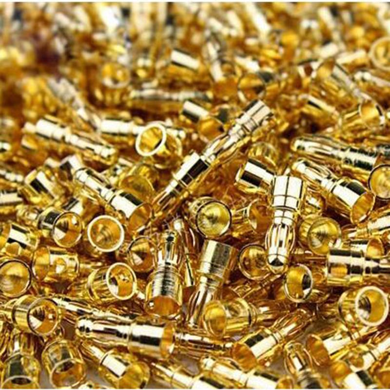 100 pcs(50 pairs) Gold Bullet 3.5mm Banana Connector Plug For Multicopter Quadcopter Motor ESC Lipo Battery Connecting Par Drone