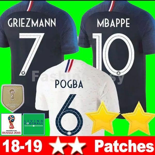 Maillot De Foot 2018Jersey Football GRIEZMANN POGBA MBAPPE World Cup ... c49360217