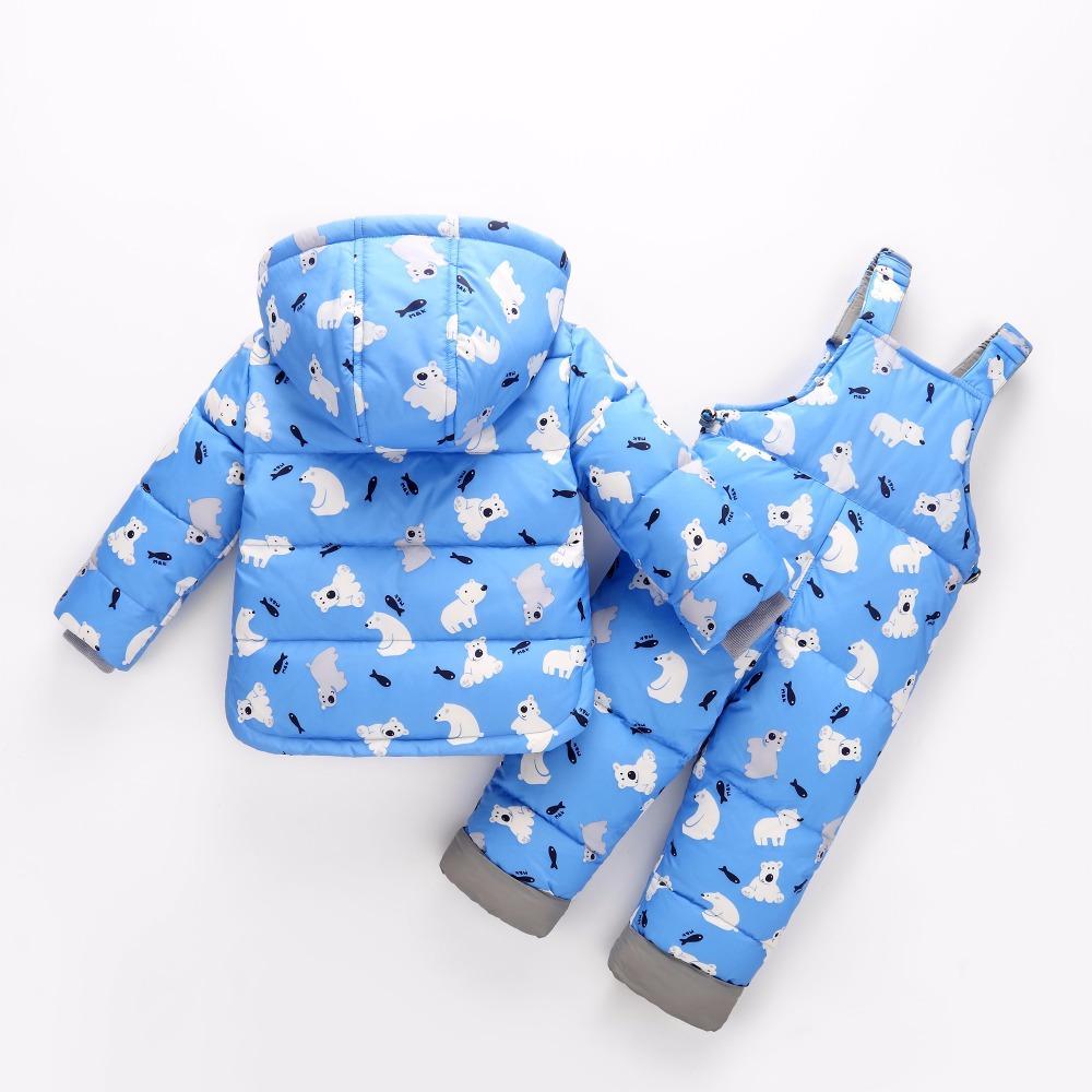 Chaquetas de abrigo de invierno de Rusia para niñas Chaqueta de abajo de invierno para niños Pantalones y chaquetas Ropa Abrigo de bebé de las niñas 30 #