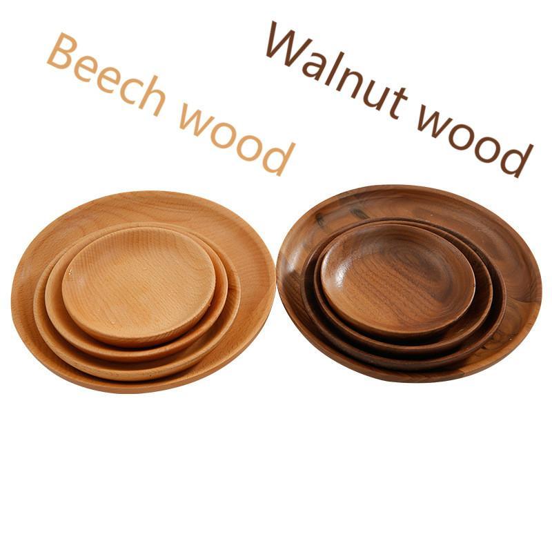 Großhandel Hohe Qualität Platten Black Walnut Holz Geschirr