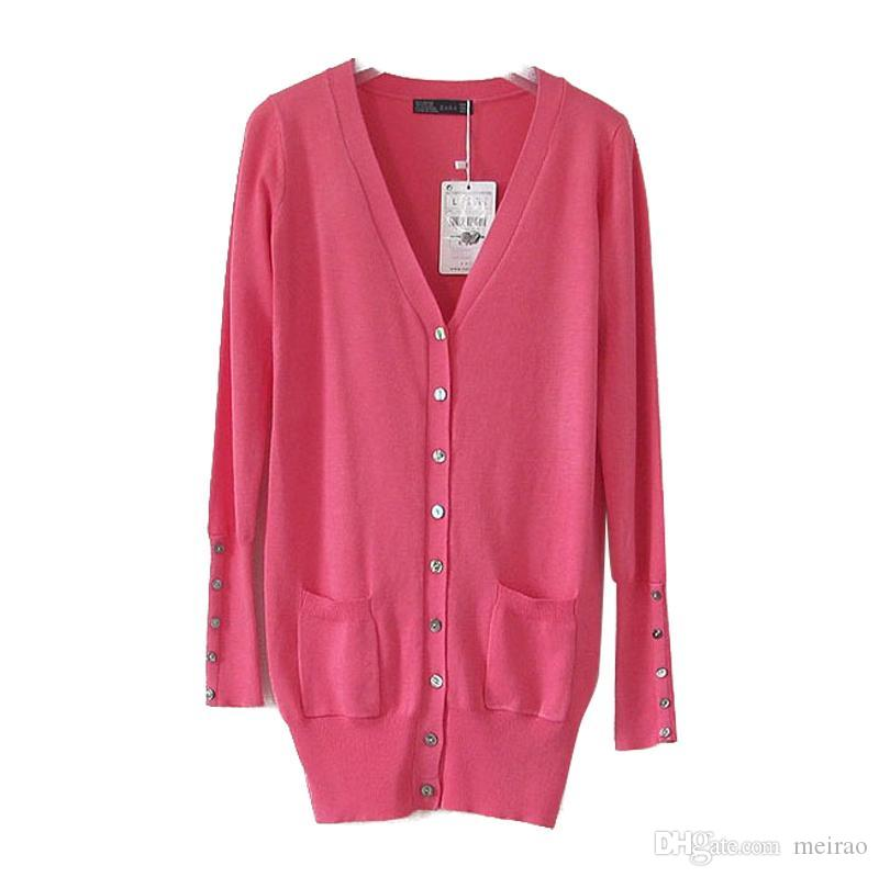 2019 Wholesale The Spring Shell Button Sweater Cardigan Coat Europe
