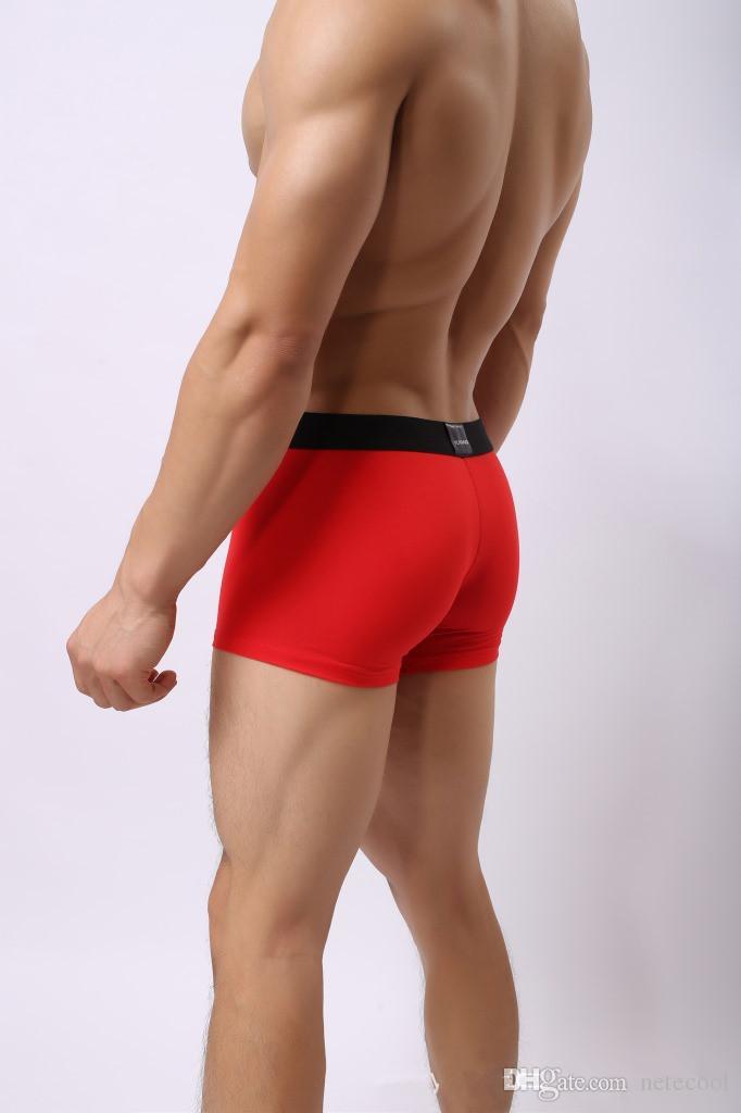 Calzoncillos de marca Nuevos hombres Ropa interior Boxers Ropa interior de algodón Hombre Sólido Suave Boxer Pantalones cortos de Homme para hombre Calzoncitos bragas