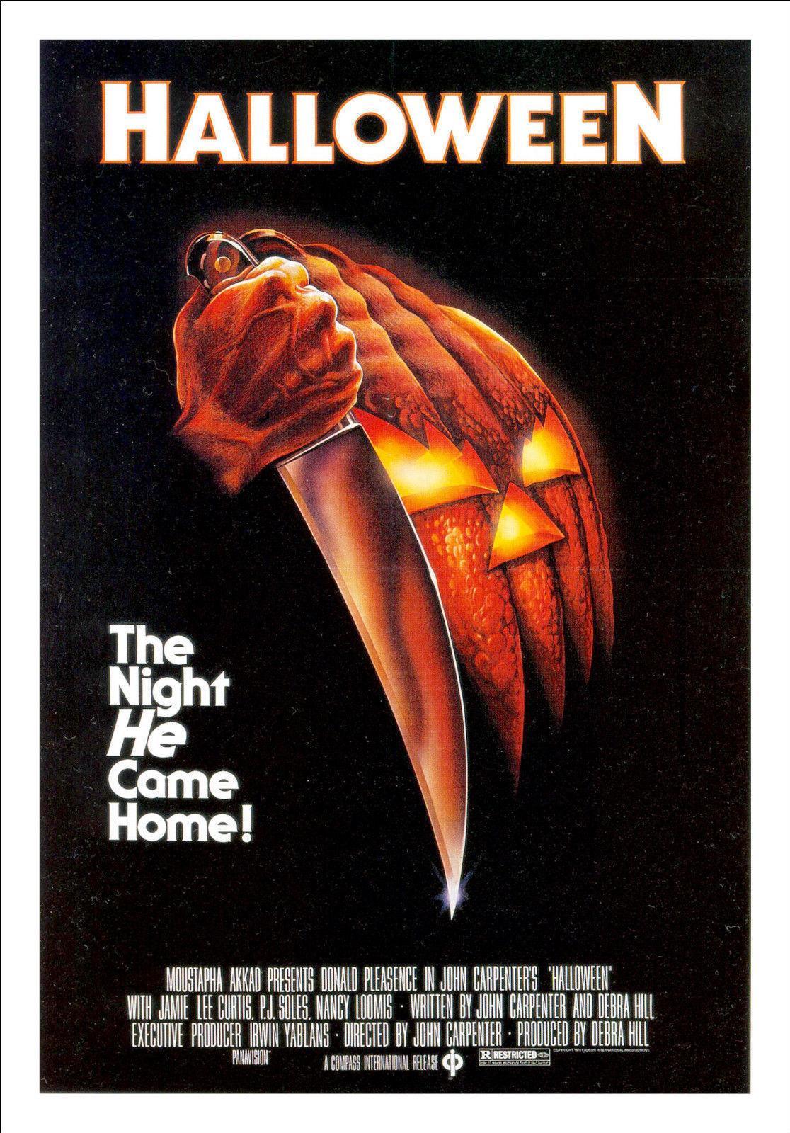 Halloween Poster Art.Halloween Michael Myers Horror Movie Art Silk Poster 20x30 24x36 24x43