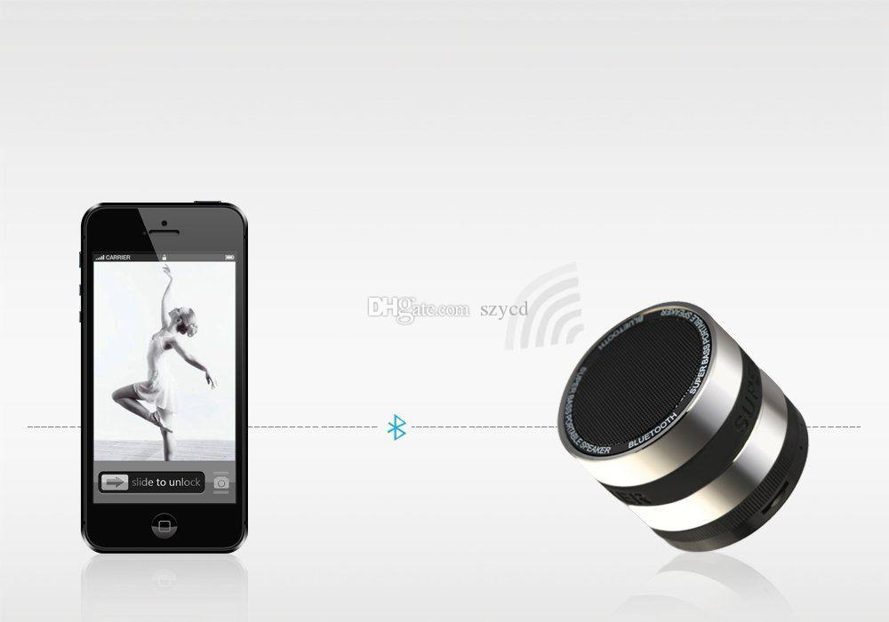 Bluetooth Wireless Speaker Mini Portable Super Bass Round Lens Style Metal For Smartphone Tablet MPiPhone Samsung