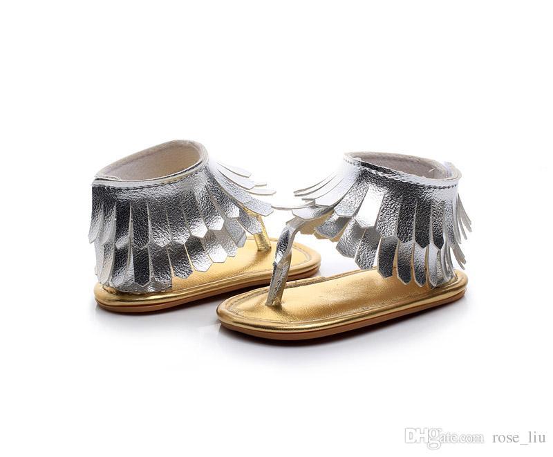 i baby in fondo morbido sandali 2018 nuovi bambini nappe infradito PU infante open toe sandali bambino primi camminatori scarpe B