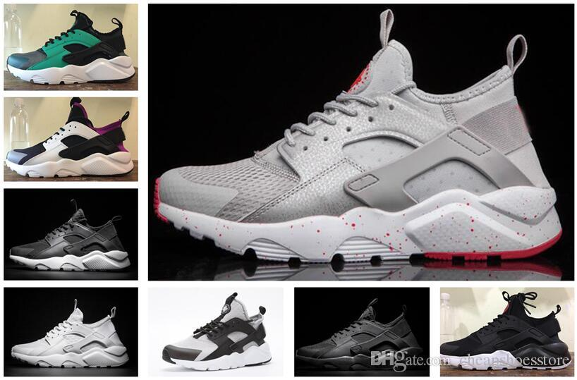 2b49655948215 2019 New Huarache Men Women IV Ultra Running Shoes Huraches Trainers  Multicolor Shoes Sport Triple Huaraches Sneakers With Box Best Trail  Running Shoes Mens ...