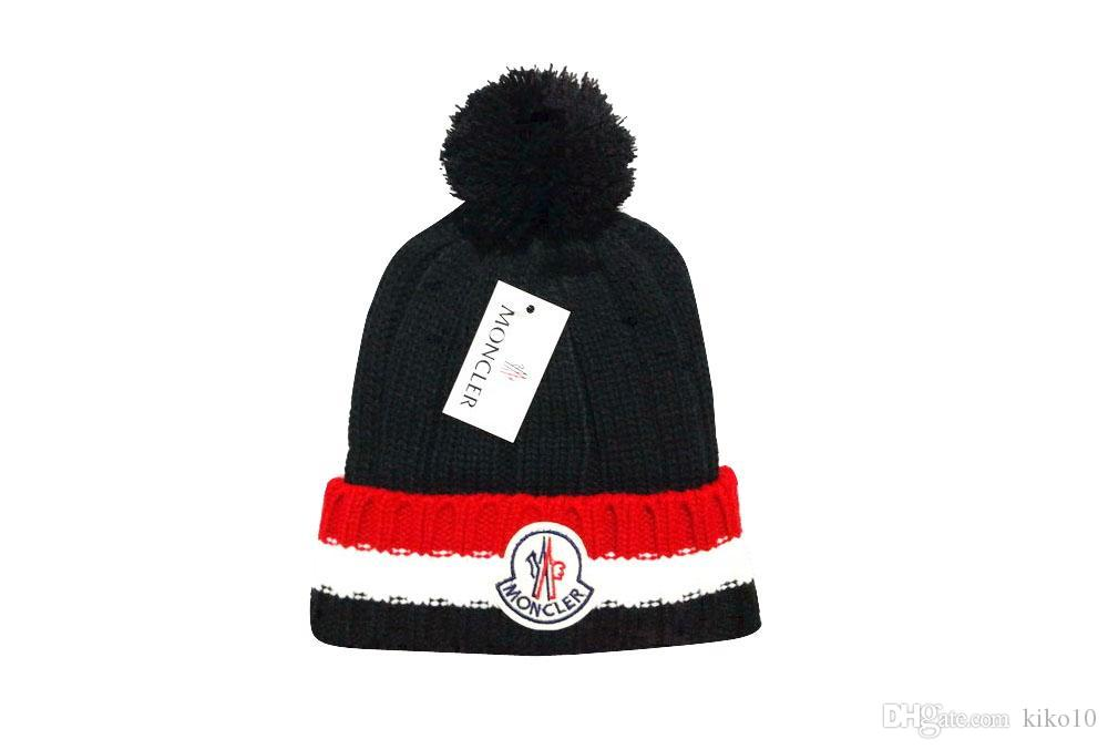 9f338d90a7d300 2018 New Wholesale Fashion Female Cute Winter Hat Knitted Hat Ball Beads  Hand Hook Warm Acrylic Ladies Hat Good Quality Ski Hats Newborn Hats From  Kiko10