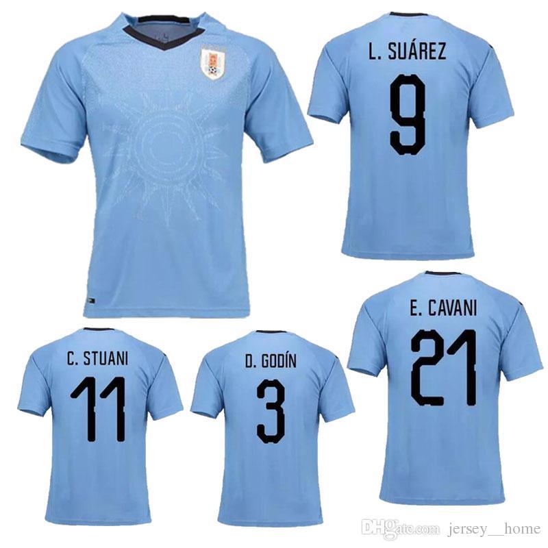 73883818708 ... 19 f08f8 04cf2 australia top thai quality 2018 uruguay home soccer  jersey 17 18 suarez edison cavani forlan godin wholesale vture mens 3 ...