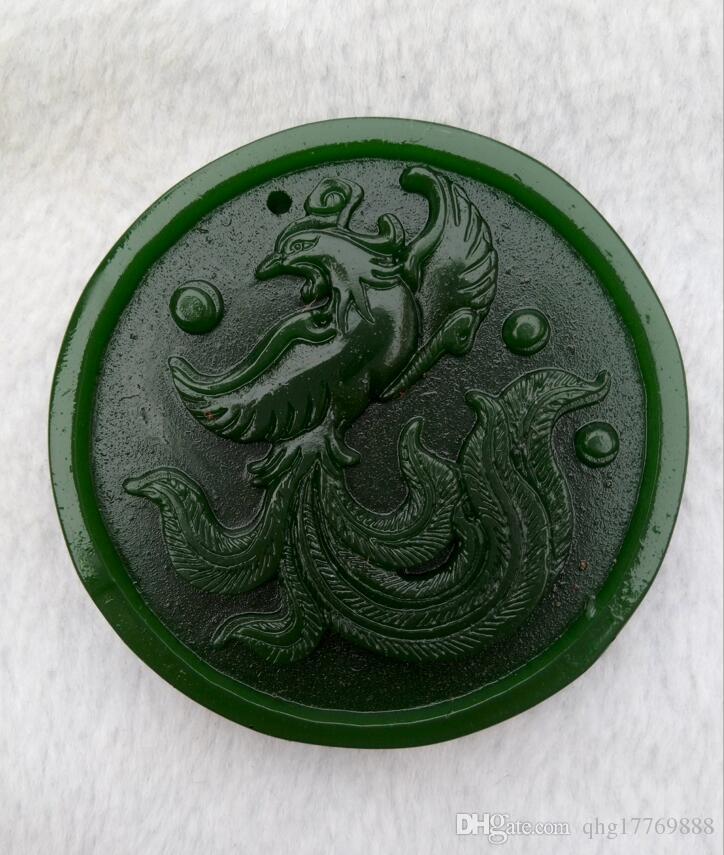 Xinjiang paz colgante de jade de Hotan Phoenix de China con el envío libre de B1