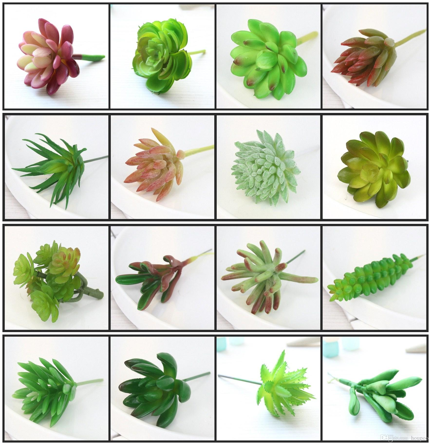 2018 28 Styles Artificial Succulents Wedding Centerpieces Home Decor ...