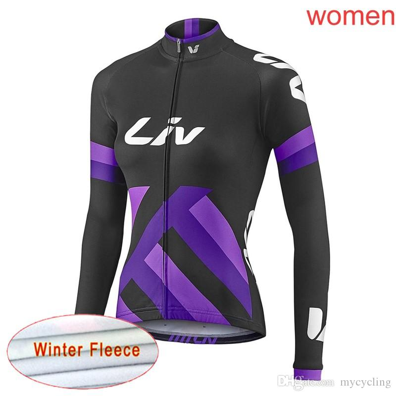 2019 Women LIV Winter Thermal Fleece Cycling Jerseys Mountain Bike Tops  Long Sleeve Shirts MTB Bicycle Wear Ropa Ciclismo Y021801 LIV Cycling  Jersey Cycling ... 4c0d28249