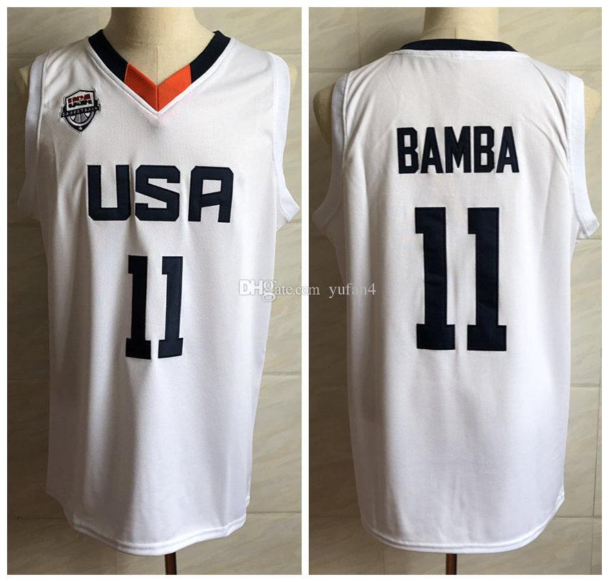 #11 Mohamed Mo Bamba Team USA White Retro Classic Basketball Jersey Mens  Stitched Custom any Number and name Jerseys